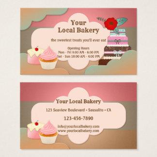Sweet Treats Cupcakes Bakery Business Card