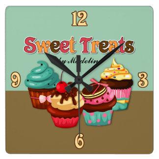 Sweet Treats Cupcakes Clock