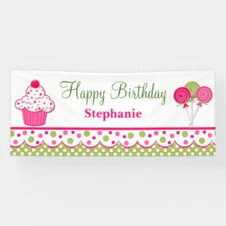 Sweet Treats Custom Birthday Banner