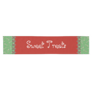 Sweet Treats Holiday Candy Buffet Gingerbread Men Short Table Runner