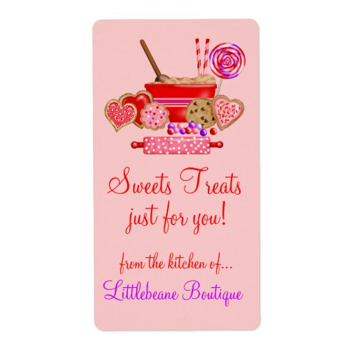 Sweet treats Large Labels