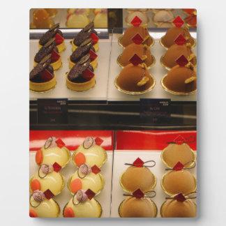 Sweet treats on display minus one plaque