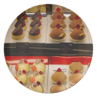 Sweet treats on display minus one plate