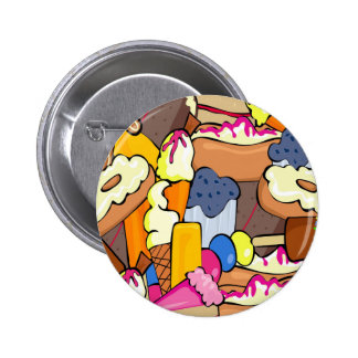 Sweet Treats Party 2 Inch Round Button