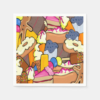 Sweet Treats Party Disposable Napkins