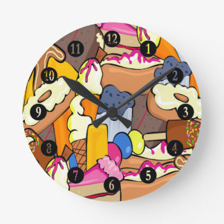Sweet Treats Party Round Clock