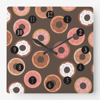 Sweet Treats Party Square Wall Clock