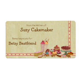 Sweet Treats Personalized Labels