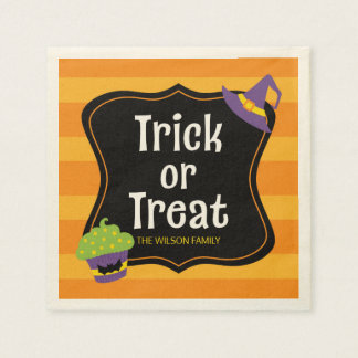 Sweet Trick or Treat Halloween Party Paper Napkins