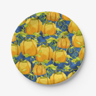 Sweet Trick or Treat Halloween Party Pumpkin Patch Paper Plate