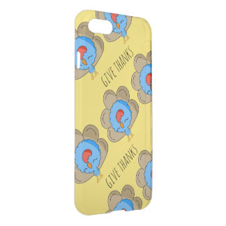 Sweet turkey kawaii boy iPhone 7 deflector case