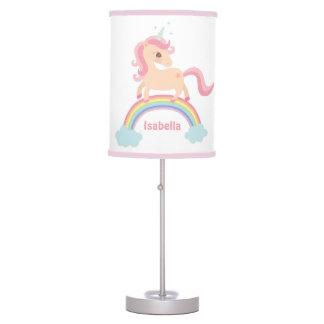 Sweet Unicorn on Rainbow Girls Room Decor Lamp