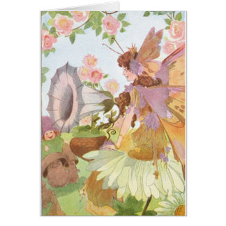 Sweet verse on fairies included in card