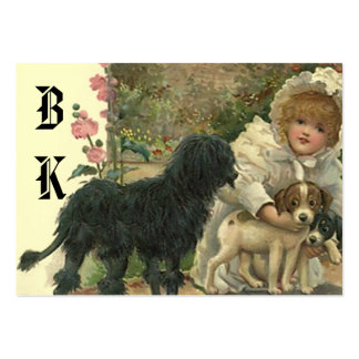 Sweet Victorian Style Gift Tags ~ Pet Befriender Pack Of Chubby Business Cards