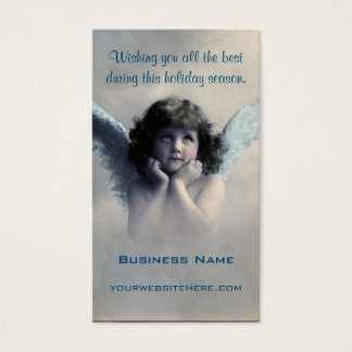 Sweet Vintage Christmas Angel Business Card