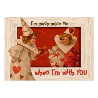Sweet Vintage Pierrot CC0659 Valentine Gift Tag Large Business Card