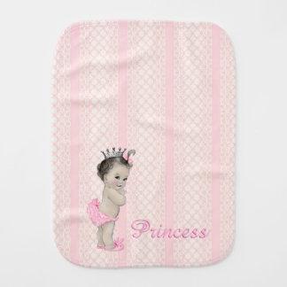 Sweet Vintage Pink Princess Burp Cloth