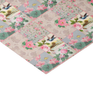 Sweet vintage wallpaper collage tissue paper