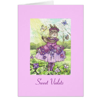 Sweet Violets Blank Note Card