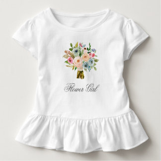 Sweet Watercolor Bouquet - Flower Girl Toddler T-shirt