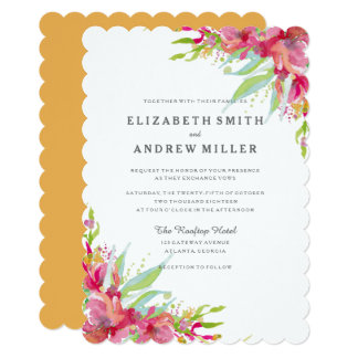 Sweet Watercolor Floral Wedding Invitation