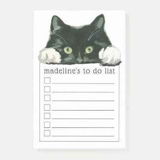 Sweet Watercolor Kitty | Your To Do List Post-it Notes
