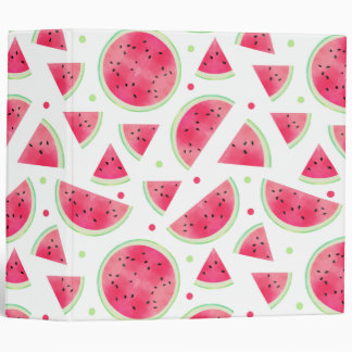 Sweet Watercolor Watermelon Pattern 3 Ring Binder