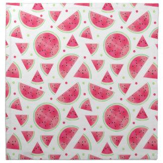 Sweet Watercolor Watermelon Pattern Napkin