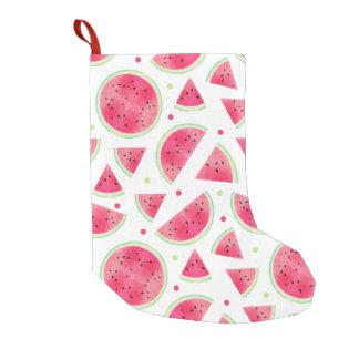 Sweet Watercolor Watermelon Pattern Small Christmas Stocking