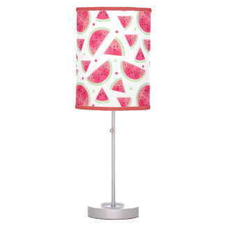 Sweet Watercolor Watermelon Pattern Table Lamp