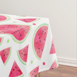 Sweet Watercolor Watermelon Pattern Tablecloth