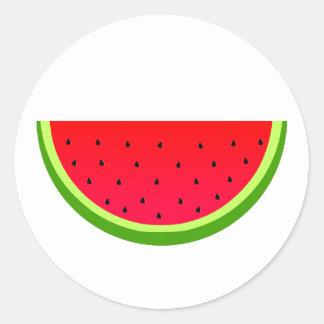 Sweet Watermelon Classic Round Sticker