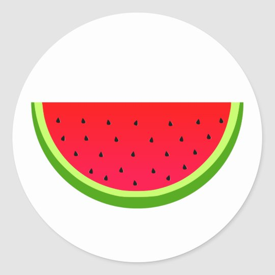 Sweet Watermelon Classic Round Sticker