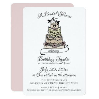 Sweet Wedding Cake Bridal Shower Card