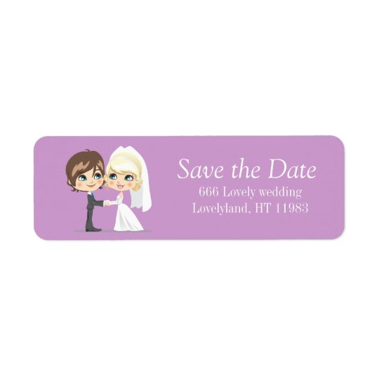 Sweet Wedding Day Return Address Label
