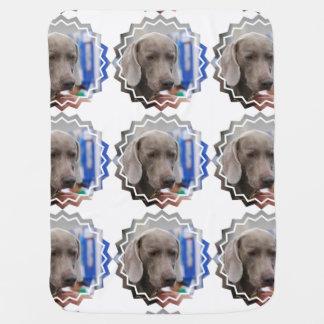 Sweet Weimaraner Dog Receiving Blanket