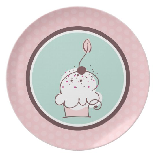 Sweet Whimsical Cupcake Plate