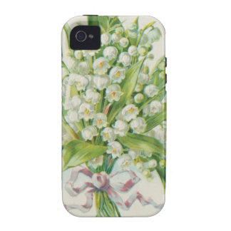 Sweet White Flowers Vintage Valentine iPhone 4 Cover