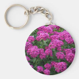 Sweet William in Bold Bloom Basic Round Button Keychain