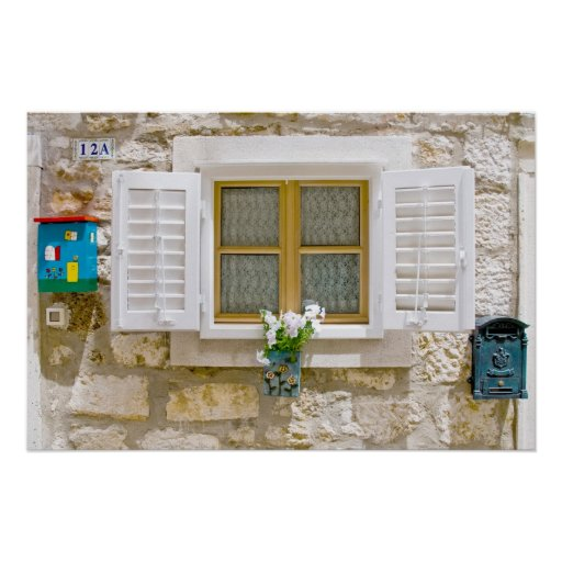 Sweet window with shutters poster