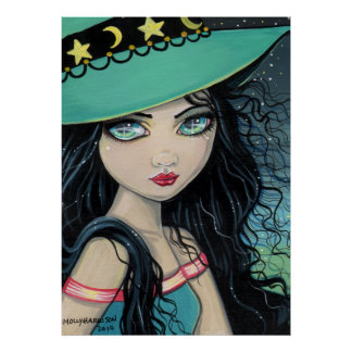 Sweet Witch Poster Print by Molly Harrison