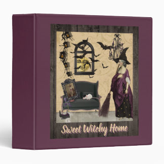 Sweet Witchy Home Purple Binders