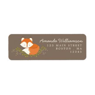Sweet Woodland Fox Nature Address Label