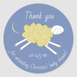 Sweet Yellow Lullaby Baby Shower Favor Sticker