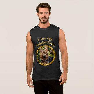 Sweet Yorkshire terrier small dog Sleeveless Shirt
