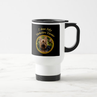 Sweet Yorkshire terrier small dog Travel Mug
