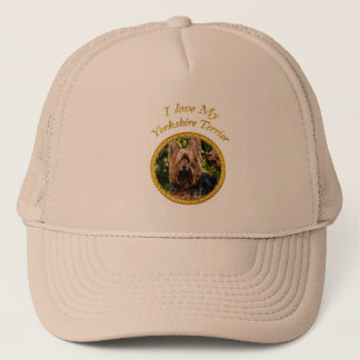 Sweet Yorkshire terrier small dog Trucker Hat