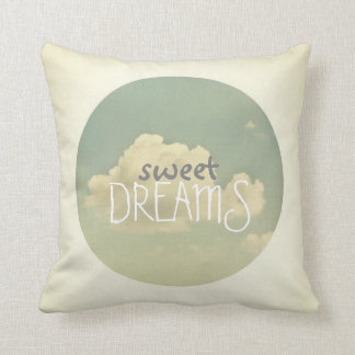 sweetdreams blue sky quote pillow home decor