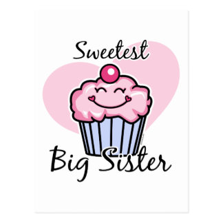 Sweetest Big Sister Postcard