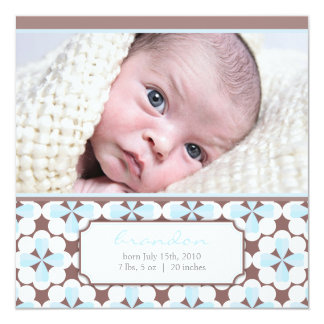 "Sweetest brown 5.25"" square invitation card"